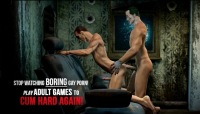 Anal fucking gay game with joker and his slave