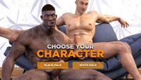 Interracial gay porn in interactive gay stud game